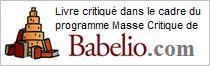 Livre critiqué dans le cadre du programme Masse Critique de Babelio.com